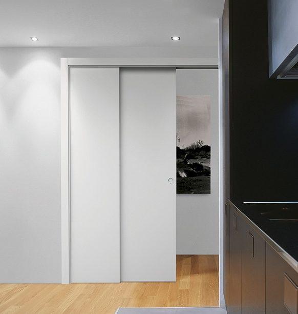 Eclisse Pocket Door System Telescopic Sliding Single