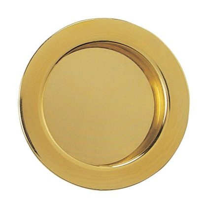 Eclisse Flush Pull Round Polished Brass