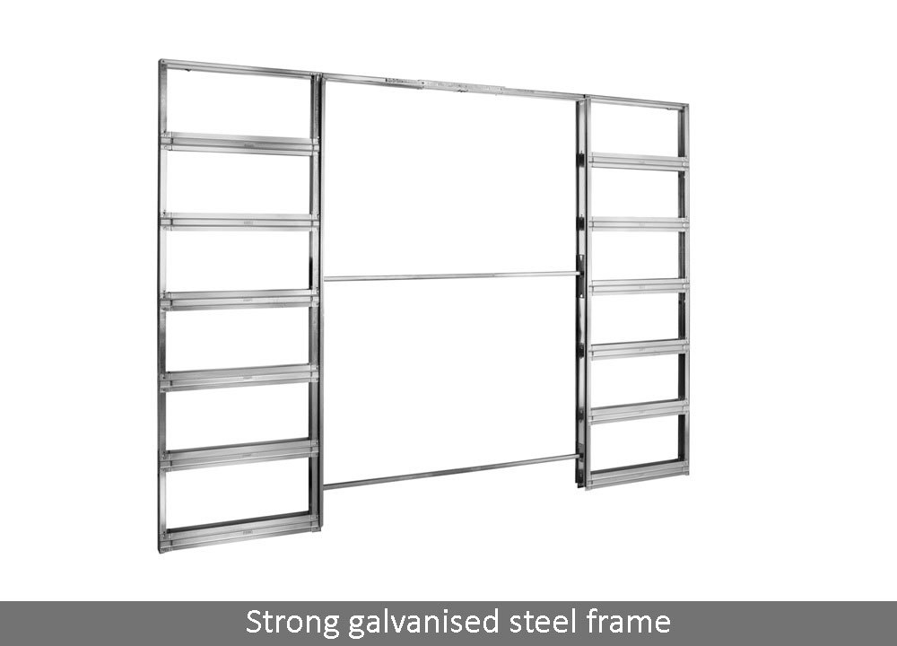 Eclisse Classic Double Fire Rated Pocket Door System The