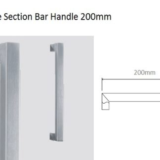 Eclisse Glass Door Handle Square Section Bar Handle