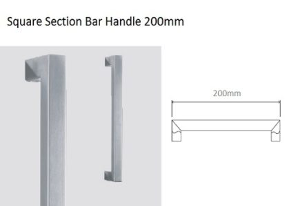 Eclisse Glass Door Handle – Square Section Bar Handle