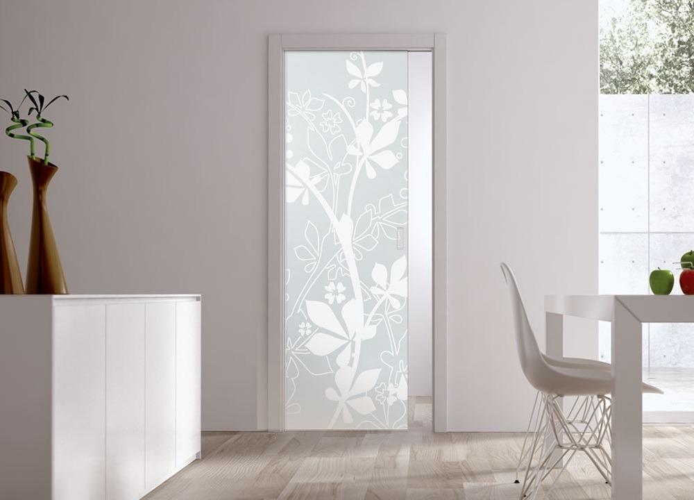 Eclisse Pocket Door System Syntesis Single Glass Doors