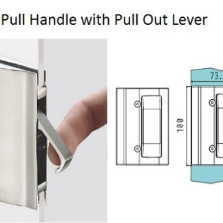 Sliding door handle for pocket door system