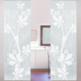 Syntesis Patterned double glass Eclisse Pocket Door System
